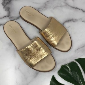 Cole Haan Anica Slide Sandals in Gold 9 D5